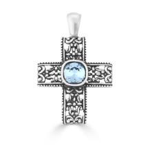 Vintage Dreamer Denim Cross Pendant (EN1625)