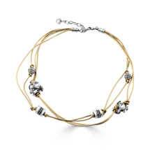 Golden Touch Leather Necklace(N1910)