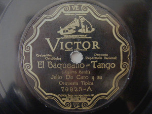 JULIO DE CARO Scr VICTOR 79923 TANGO 78rpm EL BAQUEANO