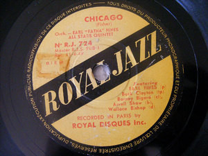 EARLS HINES ALL STARS QTET Royal Jazz 724 78 CHICAGO / TEA FOR TWO