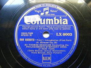 BEECHAM, WALLENSTEIN, POLLAIN Columbia 8003 5x78 Set DON QUIXOTE NM