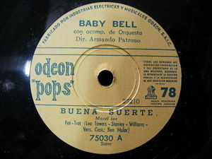 BABY BELL Odoen Pops 75030 FOX TROT 78 BUENA SUERTE