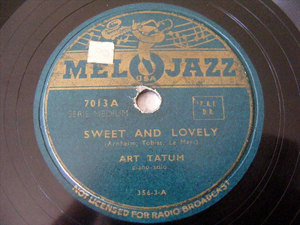 ART TATUM Melojazz 7013 JAZZ 78 SWEET AND LOVELY / DANNY BOY