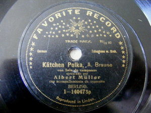 ALBERT MULLER Favorite 14047 TUBAPHONE & BELLS 78 KATCHEN POLKA