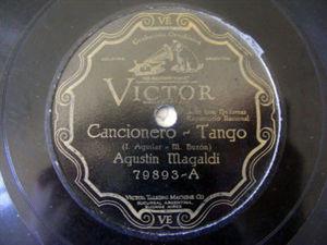 AGUSTIN MAGALDI Victor 79893 TANGO 78 CANCIONERO/PAJARO
