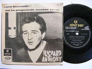 "7"" RICHARD ANTHONY Sigue Buscando ODEON 513 Arg EP PS"