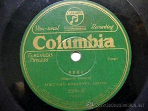 FORTUNIO BONANOVA Columbia 2596-X BEBA / LOS GAVILANES
