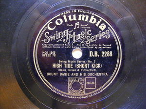 COUNT BASIE Columbia 2288 JAZZ 78 FEATHER MERCAHNT / HIGH TIDE