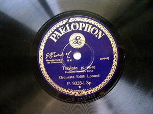 EDITH LORAND ORCHESTRA Parlophon 9335 78rpm TRAVIATA