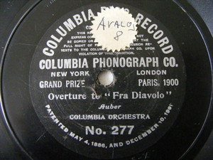 COLUMBIA ORCHESTRA Early Columbia 277 78 Fra Diavolo