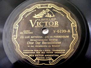 CHOR BENEDIKTINER/CHIMES Victor V-6199 LUX AETERNA 78