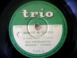 DUO BESSONE & PAFUNDI Trio 025 LATIN 78 CANCHA A LA RUE