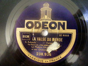 DAJOS BELA Odeon 238936 78rpm LA VALSE DU MONDE