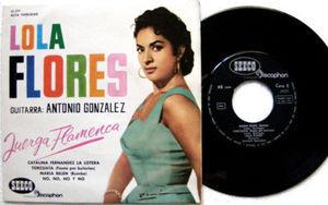 """7"""" LOLA FLORES Juerga Flamenca SEECO 17177 45rpm EP PS"""
