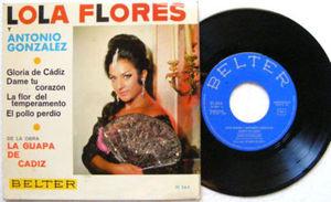 """7"""" LOLA FLORES La Guapa De Cadiz BELTER 51264 45rpm PS"""