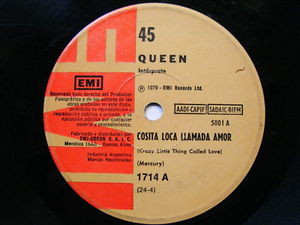 """7"""" QUEEN Crazy Little Thing ARGENTINA EP 45rpm"""