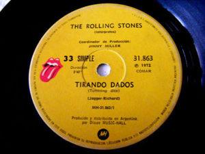 "7"" THE ROLLING STONES Tirando Dados RARE Argentina EP"
