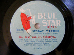 DON BYAS Blue Star 39 JAZZ 78rpm STORMY WEATHER
