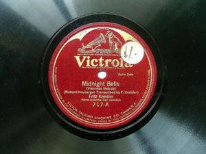 FRITZ KREILER Victrola 717 VIOLIN 78 MIDNIGHT BELLS