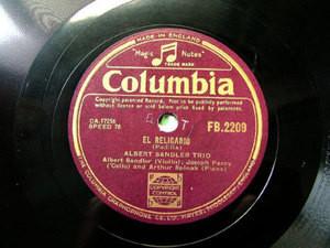 ALBERT SANDLER TRIO Columbia 2209 JAZZ 78 EL RELICARIO