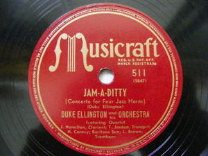 DUKE ELLINGTON Musicraft 511 JAZZ 78 JAM-A-DITTY 4 horn