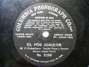 ANGELA PENCHI Early Columbia 22581 78 EL POR JOAQUIM