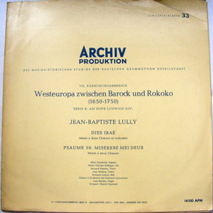 ARCHIV 14100 West Europe Between Baroque & Rococo LP NM