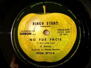 "7"" RINGO STARR Apple 8712 ARGENTINA 45 NO FUE FACIL"