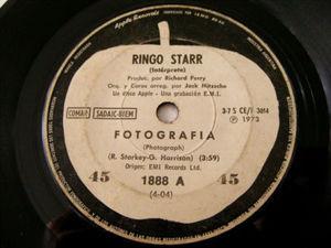 "7"" RINGO STARR Apple 1888 ARGENTINA 45rpm FOTOGRAFIA"