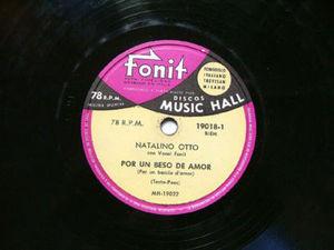 NATALINO OTTO Music Hall 19018 ITALIAN 78 POR UN BESO D