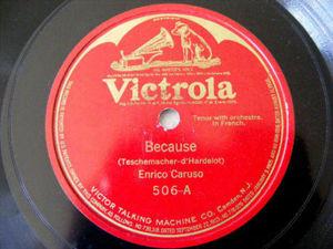 E. CARUSO Victrola 509 78rpm LASCIATI AMAR/GUARDANN A L