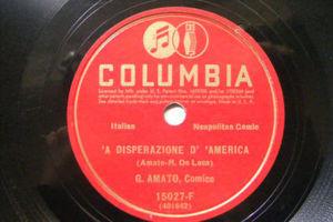 G. AMATO Columbia 15027 NEAPOLITAN COMIC 78rpm