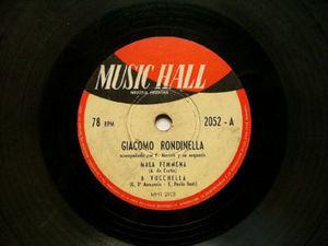 G. RONDINELLA Music Hall 2052 ITALIAN 78 MALA FEMMENA