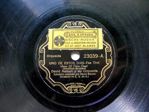DAVID NELSON/JOE VENUTI Scr VICTOR 23039 JAZZ 78rpm