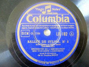 EUGENE BIGOT Columbia 182 78rpm BALLET DE SYLVIA