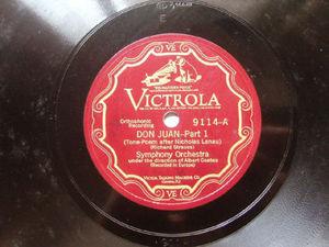 ALBERT COATES Victrola 9114 2x78 Set DON JUAN