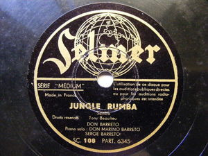 DON BARRETO Selmer 108 JAZZ 78 JUNGLE RUMBA / ENLLORO NM