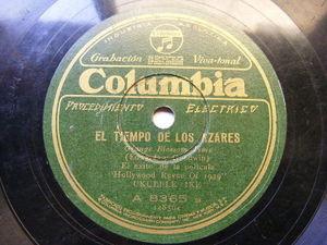 (CLIFF EDWARDS) UKELELE IKE Columbia 8365 RARE ARG PRESS 78 SINGING IN THE RAIN