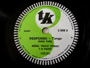 ANIBAL TROILO Tk 5048 TANGO 78rpm RESPONSO/DISCEPOLIN