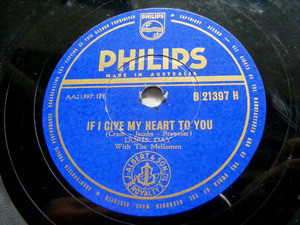 DORIS DAY & MELLOMEN Philips 21397 78rpm ANYONE CAN FAL