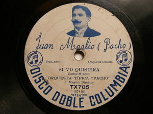 JUAN MAGLIO PACHO Columbia TX785 TANGO 78 IRMA / SI VD QUISIERA EX