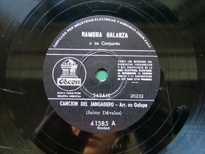 RAMONA GALARZA Odeon 41385 CHAMAME 78rpm SE APAGO LA