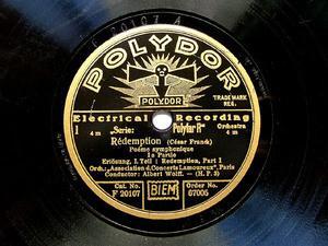 """ALBERT WOLFF Polydor 67005 78rpm FRANCK """"Redemption"""""""