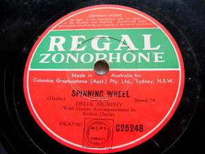 DELIA MURPHY Regal 25248 IRISH 78rpm SPINNING WHEEL