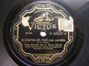 MARINA ITALIANA PIETRO CARLO AGHEMO Victor V-12037 78 INNO PATRIOTICO