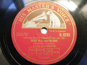 DUKE ELLINGTON hmv 9285 JAZZ 78 SOLITUDE / DEAR OLD SOUTHLAND