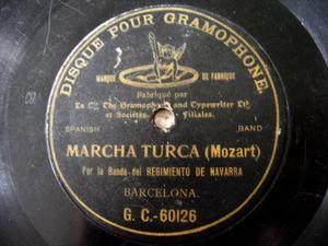 BAND REG. NAVARRA Gramophone 60126 78rpm MARCHA TURCA
