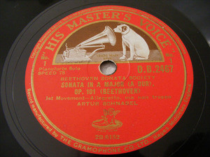 ARTHUR SCHNABEL Hmv 2467 3x78 Set BEETHOVEN Sonata