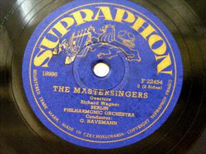 GUSTAVE HAVEMANN Supraphon 22454 78rpm WAGNER Overture