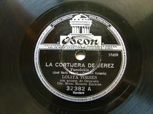 LOLITA TORRES Odeon 32382 SPANISH 78rpm EL BARQUITO